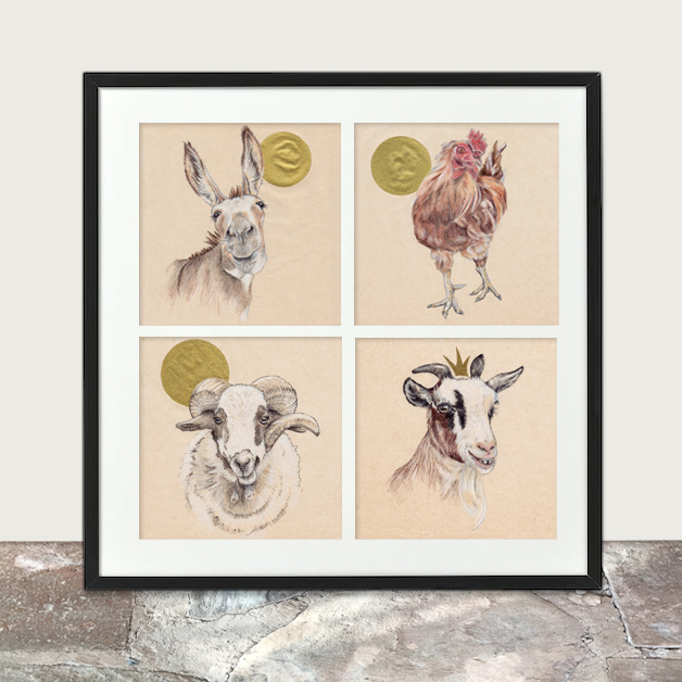 Bee print selection